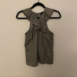 Banana Republic flounce patterned blouse